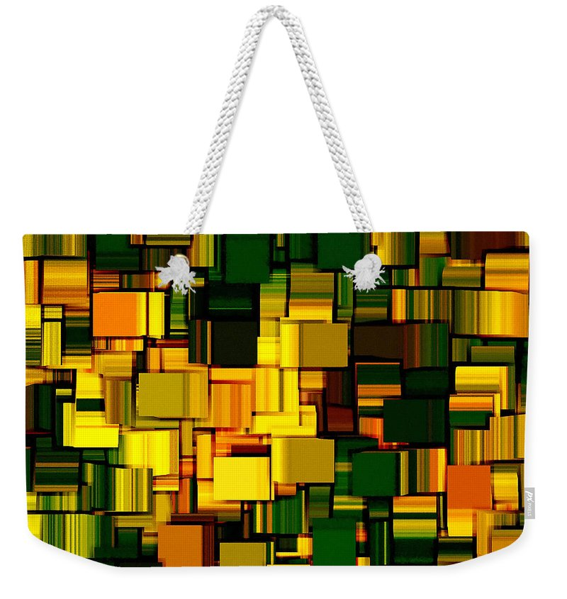 Abstract Weekender Tote Bag featuring the digital art Modern Abstract Xxii by Lourry Legarde