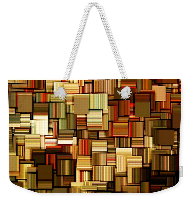 Abstract Weekender Tote Bag featuring the digital art Modern Abstract Xxiii by Lourry Legarde