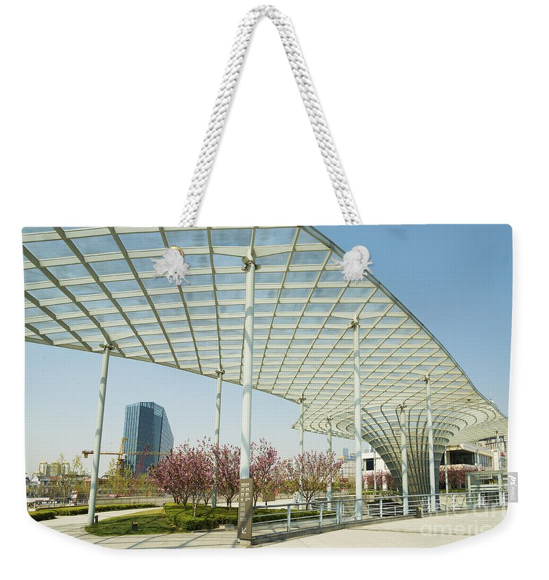 Architecture Weekender Tote Bag featuring the photograph Modern Architecture In Shanghai China by Jacek Malipan
