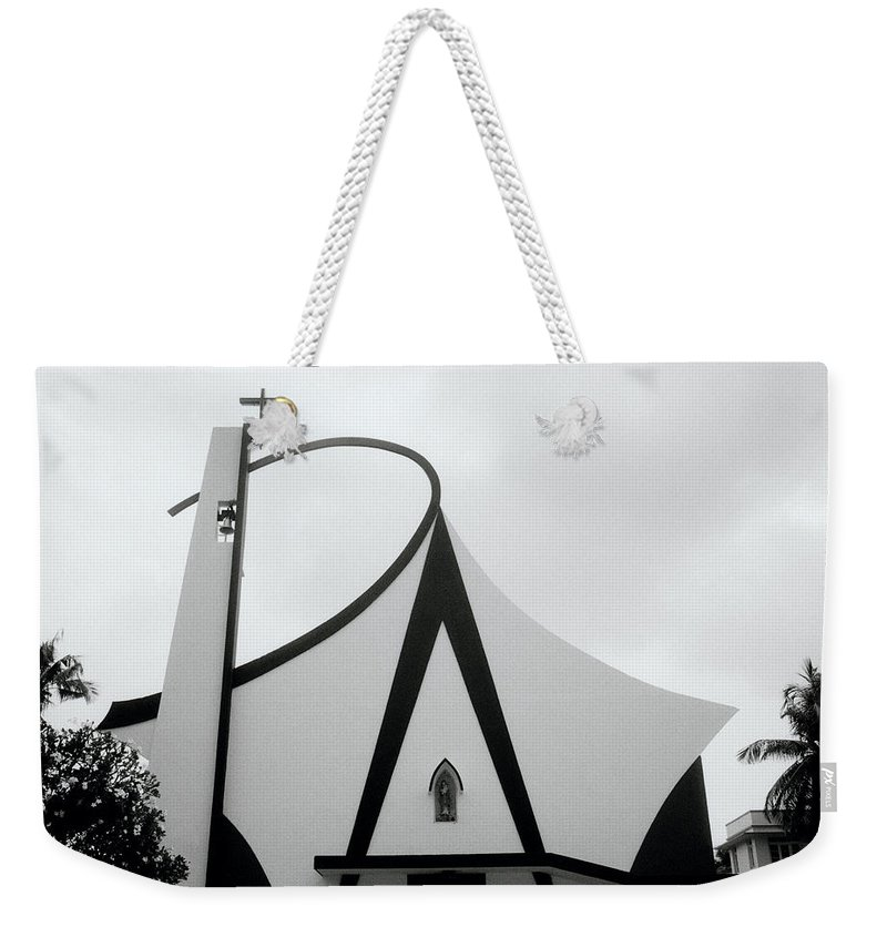 India Weekender Tote Bag featuring the photograph Modern Church In Cochin by Shaun Higson