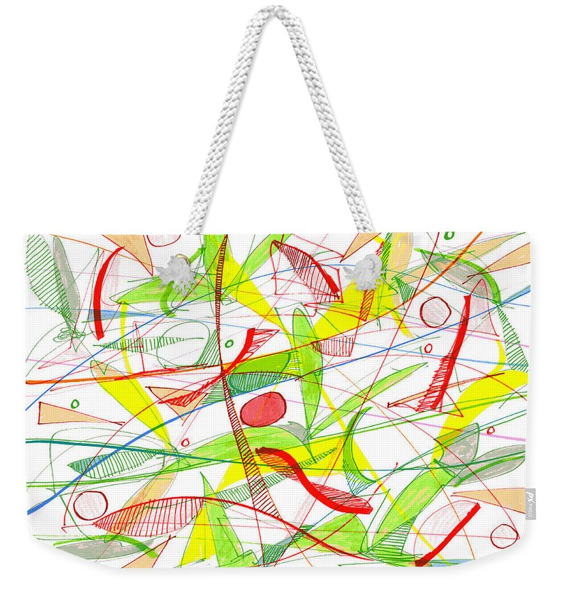 Modern Drawing Weekender Tote Bag featuring the drawing Modern Drawing Seventy-three by Lynne Taetzsch