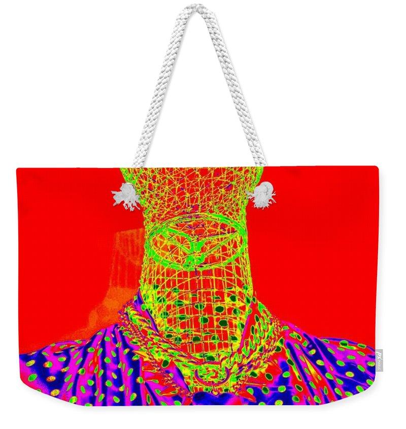 Pop Art Weekender Tote Bag featuring the digital art Modern Mesh Mosaic by Ed Weidman