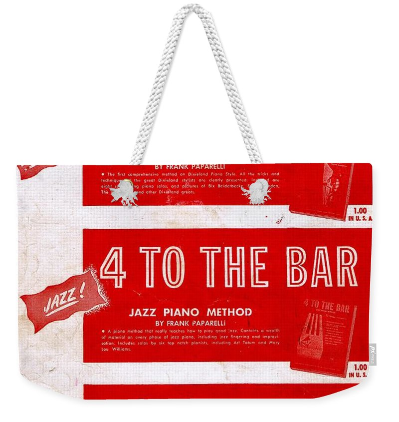 Nostalgia Weekender Tote Bag featuring the photograph Modern Piano Playing by Mel Thompson