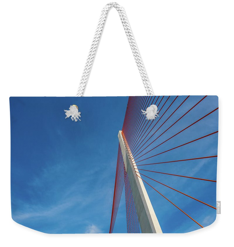 Hanging Weekender Tote Bag featuring the photograph Modern Suspension Bridge by Phung Huynh Vu Qui
