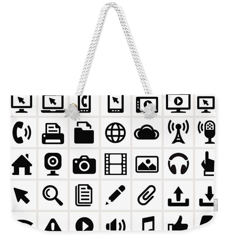 Internet Weekender Tote Bag featuring the digital art Modern Technology Internet Social by Bubaone