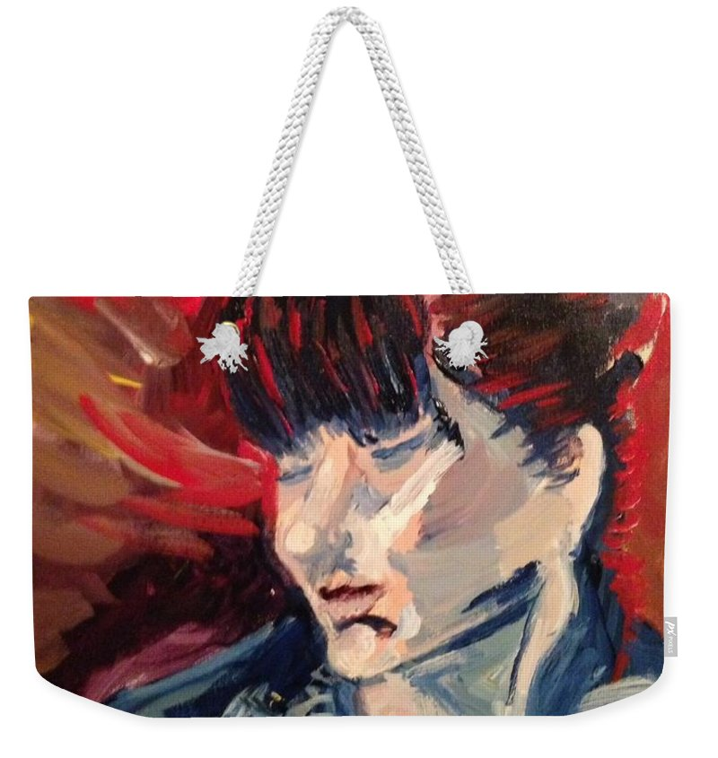 Painting From Life. Weekender Tote Bag featuring the painting Mollie by Julene Franki