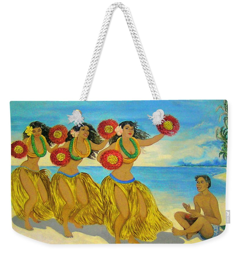 Hawaii Iphone Cases Weekender Tote Bag featuring the photograph Moloka'i Hula 2 by James Temple