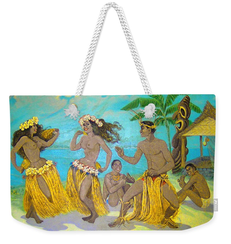Kanemitsu Bakery Weekender Tote Bag featuring the photograph Moloka'i Hula 3 by James Temple