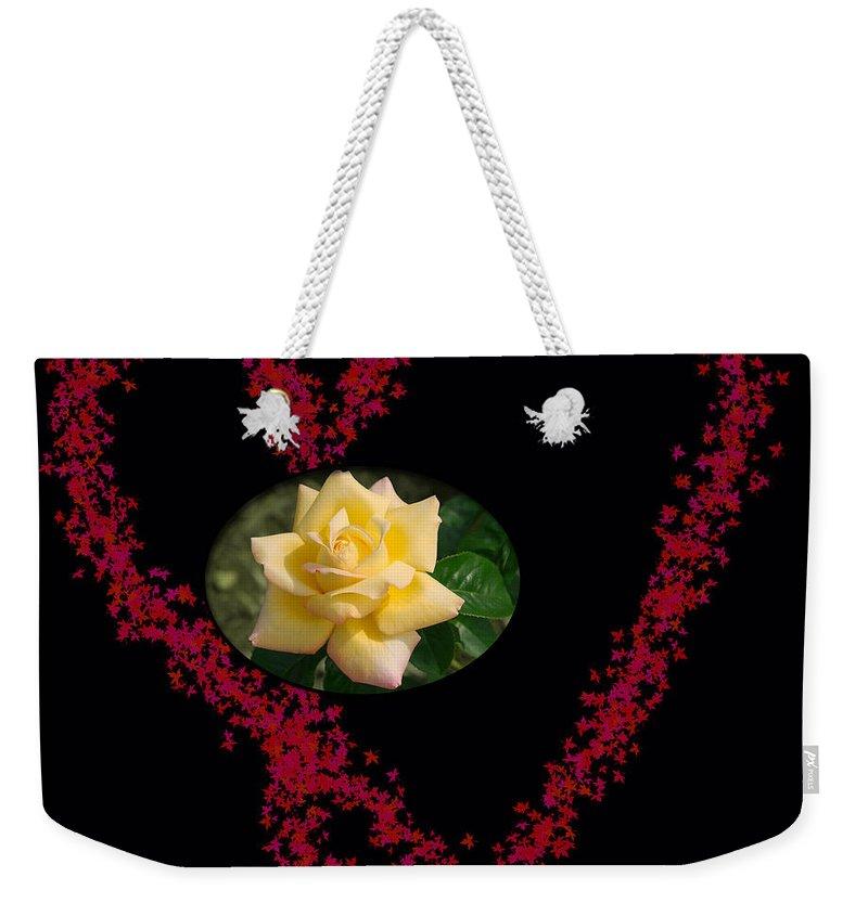 Love Weekender Tote Bag featuring the painting Mom Infinite Love by Georgeta Blanaru