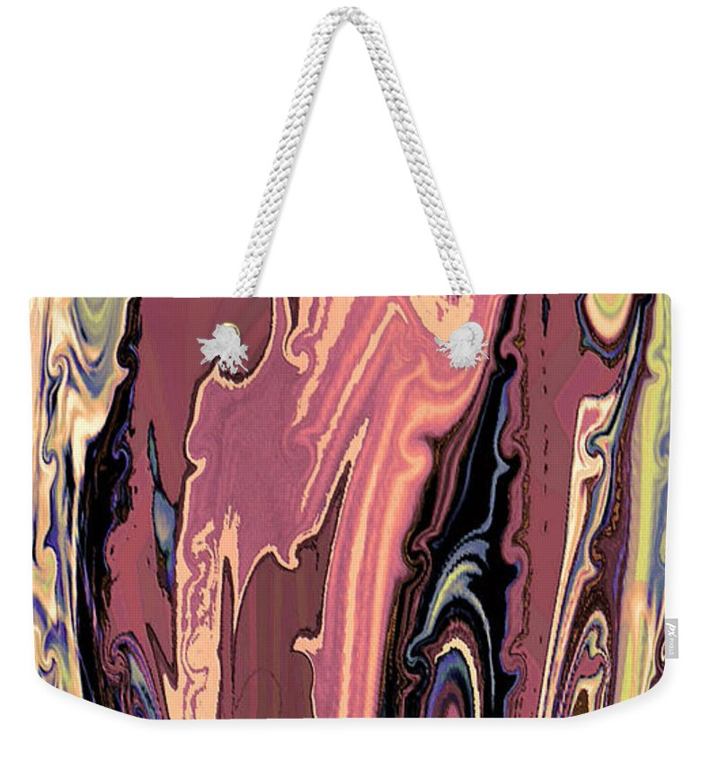 Murano Glass Weekender Tote Bag featuring the mixed media Mom's Venetian Glass Vase 16 by Natalie Holland