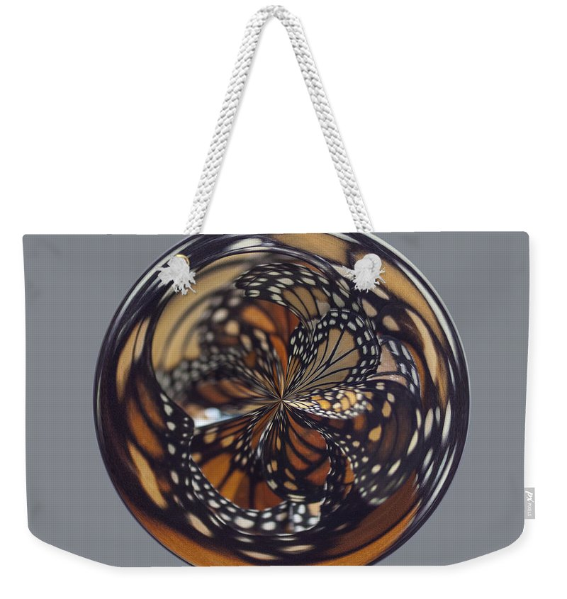 Orb Weekender Tote Bag featuring the photograph Monarch Butterfly Abstract by Darleen Stry