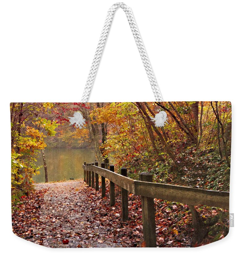 Appalachia Weekender Tote Bag featuring the photograph Monet's Trail by Debra and Dave Vanderlaan