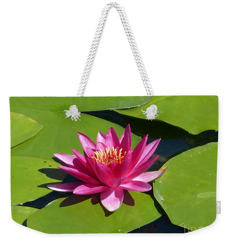 Flower Weekender Tote Bag featuring the photograph Monet's Waterlily by Marguerita Tan