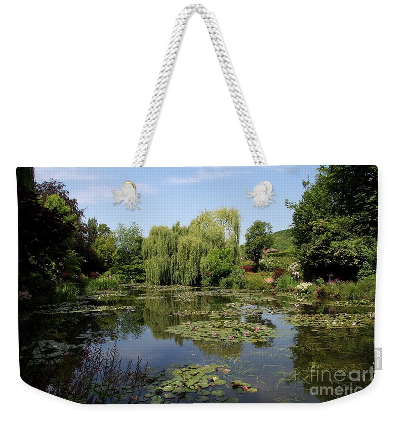 Pond Weekender Tote Bag featuring the photograph Monets Waterlily Pond by Christiane Schulze Art And Photography