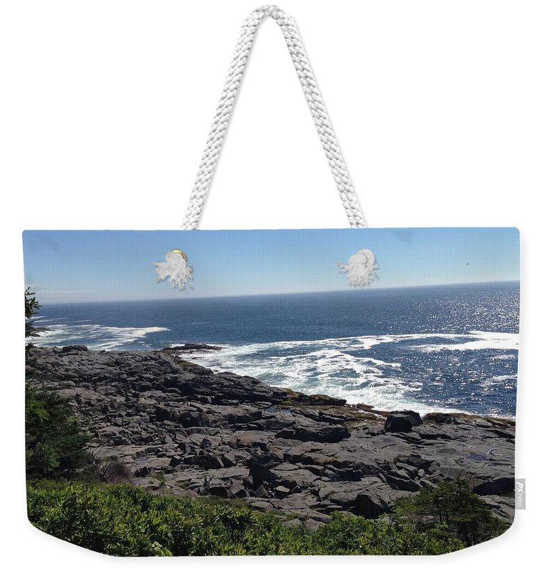 Monhegan Weekender Tote Bag featuring the photograph Monhegan Island by Jean Macaluso