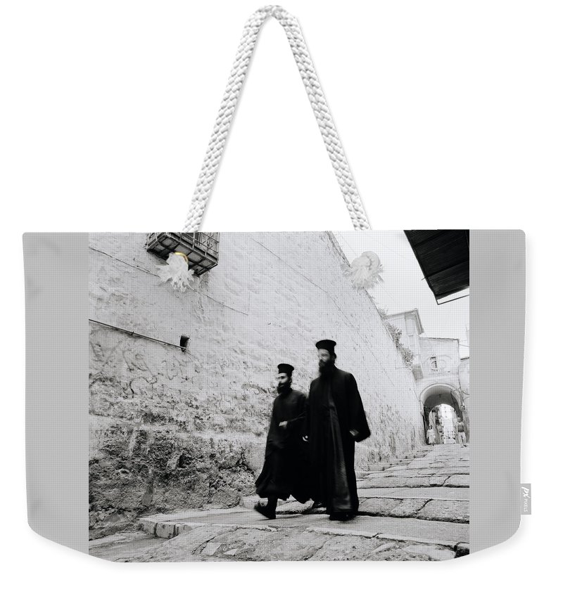 Jerusalem Weekender Tote Bag featuring the photograph Ancient Beliefs by Shaun Higson