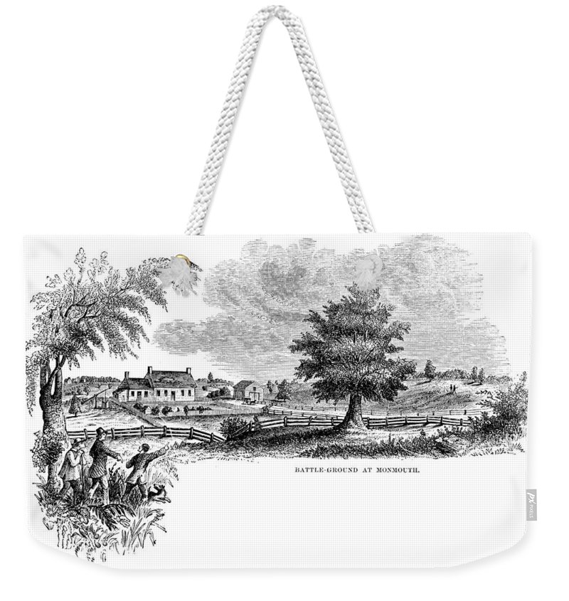 1777 Weekender Tote Bag featuring the photograph Monmouth Battlefield by Granger