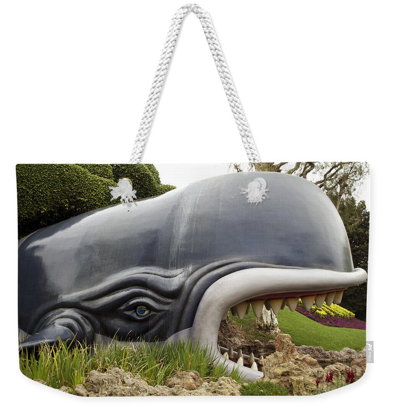 Disney Weekender Tote Bag featuring the photograph Monstro The Whale At Disneyland Side View by Thomas Woolworth