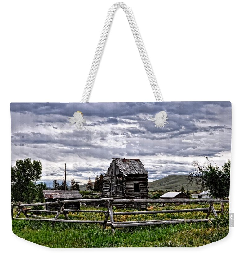 Cabin Weekender Tote Bag featuring the photograph Montana by Image Takers Photography LLC