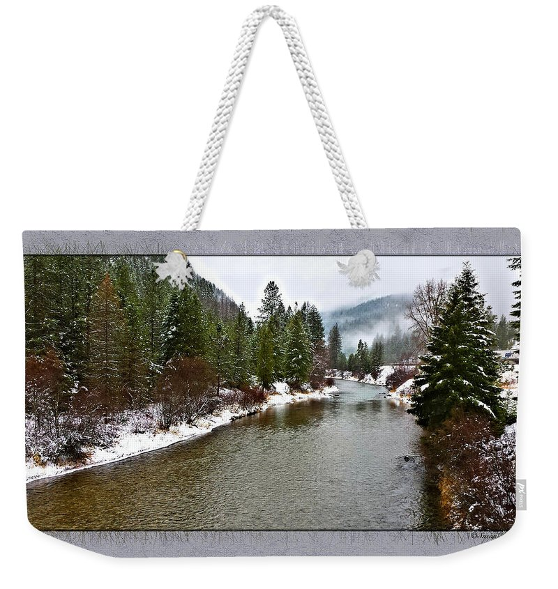 Montana Weekender Tote Bag featuring the photograph Montana Winter Frame by Susan Kinney