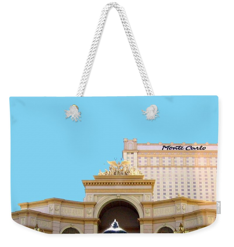 Monte Carlo Weekender Tote Bag featuring the photograph Monte Carlo by Will Borden
