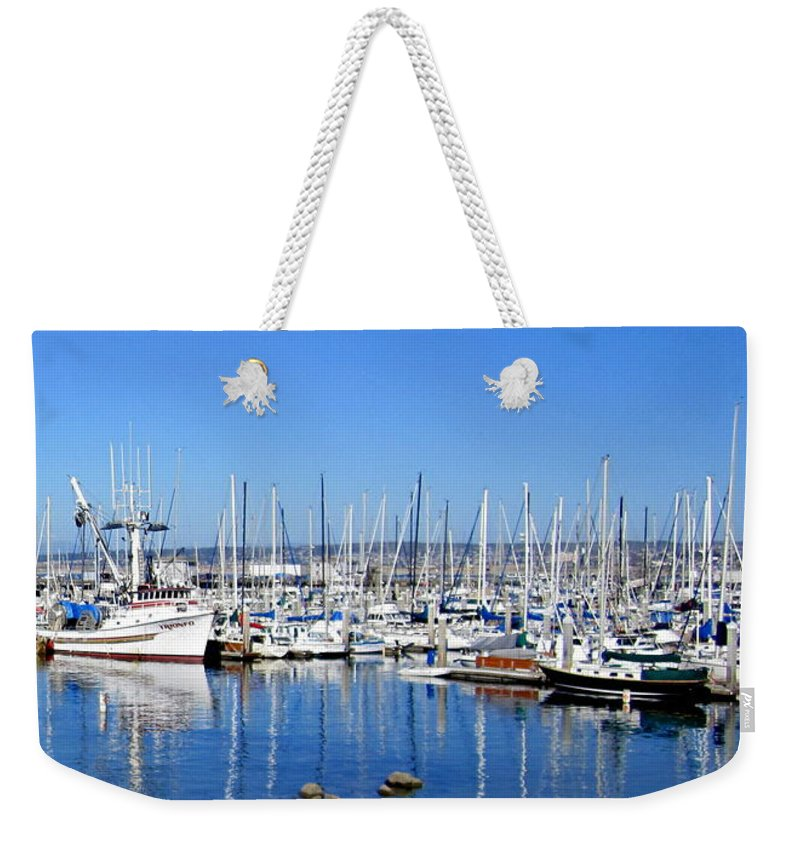 Boats Weekender Tote Bag featuring the photograph Monterey-7 by Dean Ferreira