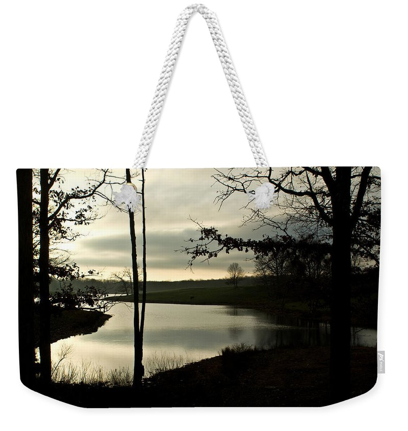 Monterey Weekender Tote Bag featuring the photograph Monterey Silver Lake by Douglas Barnett