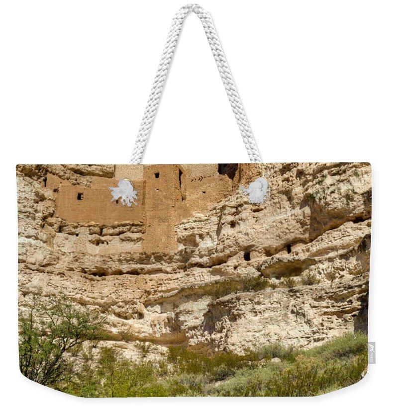 Montezuma Weekender Tote Bag featuring the photograph Montezumas Castle 14 by Douglas Barnett