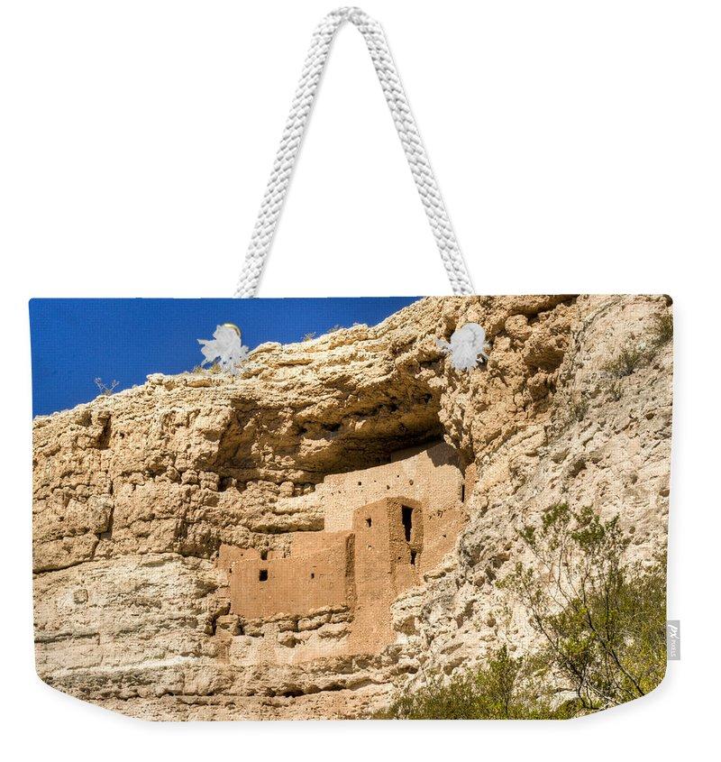 Montezuma Weekender Tote Bag featuring the photograph Montezumas Castle 17 by Douglas Barnett