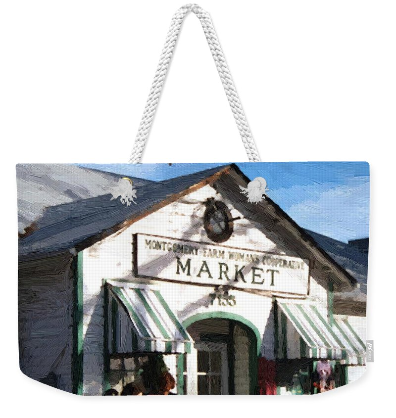 Americana Weekender Tote Bag featuring the painting Montgomery County Market by RC deWinter