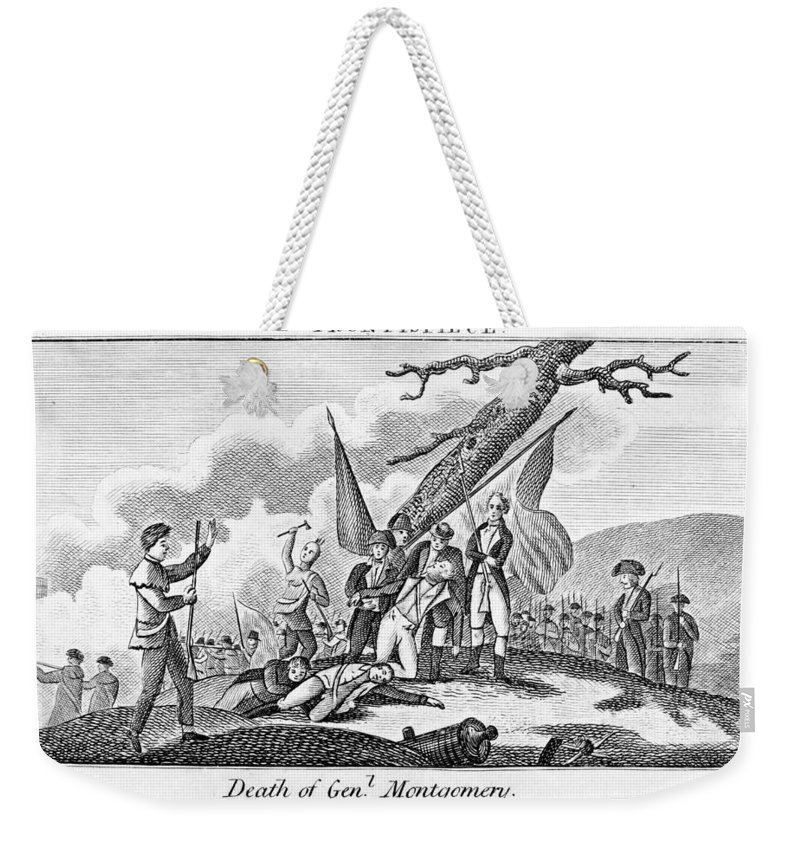 1775 Weekender Tote Bag featuring the photograph Montgomerys Death, 1775 by Granger