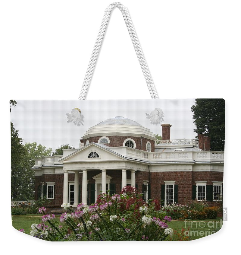 Monticello Weekender Tote Bag featuring the photograph Monticello Estate by Christiane Schulze Art And Photography
