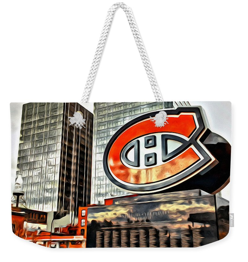 Montreal Canadiens Statue C Scenic Weekender Tote Bag featuring the photograph Montreal C by Alice Gipson
