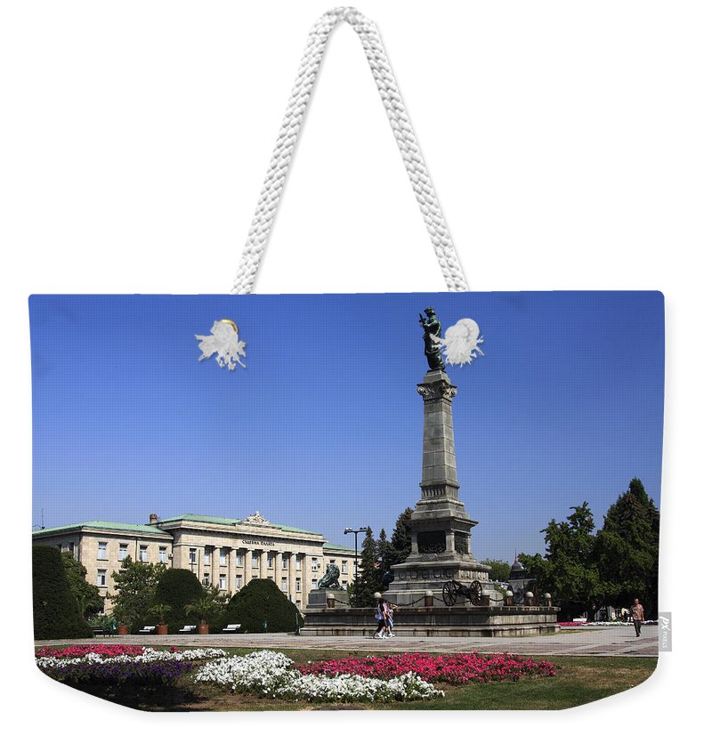 Monument Of Freedom Weekender Tote Bag featuring the photograph Monument Of Freedom by Sally Weigand