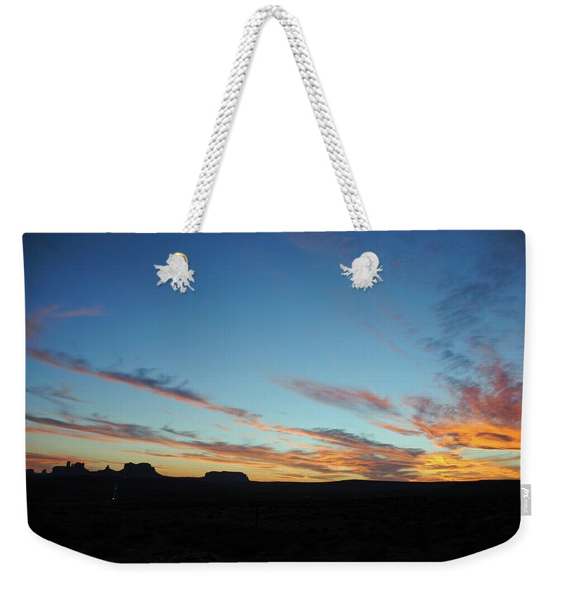 Justjeffaz Weekender Tote Bag featuring the photograph Monument Valley Sunset 2 by Jeff Brunton