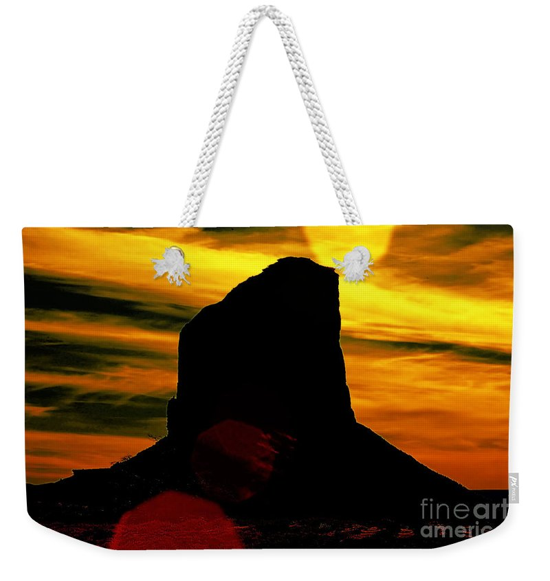 Monument Valley Weekender Tote Bag featuring the photograph Monument Valley -utah V2 by Douglas Barnard