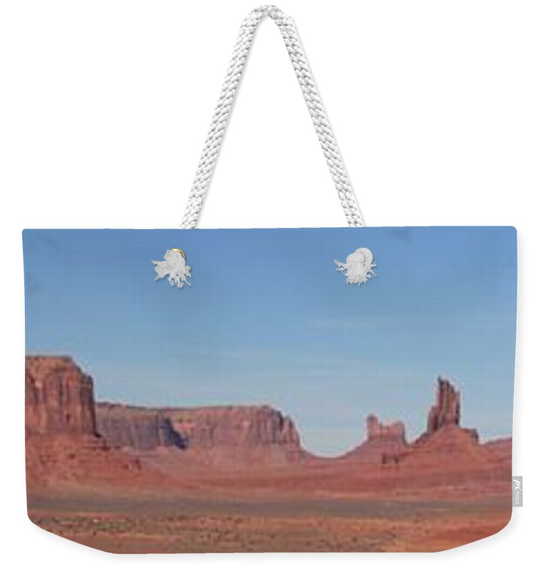 Monument Valley Weekender Tote Bag featuring the photograph Monumental Landscape by Adam Jewell