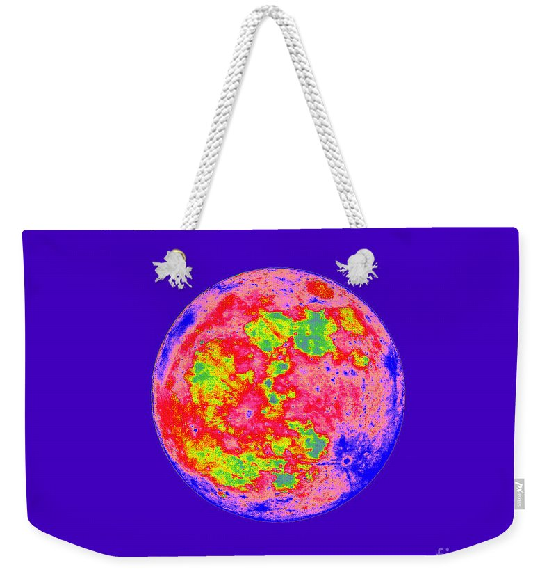 Moon Weekender Tote Bag featuring the photograph Moody Moon by Al Powell Photography USA
