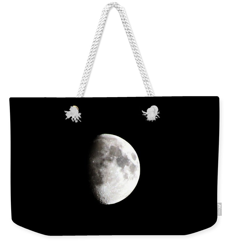 Moon Weekender Tote Bag featuring the photograph Moon 01 by Tom Conway