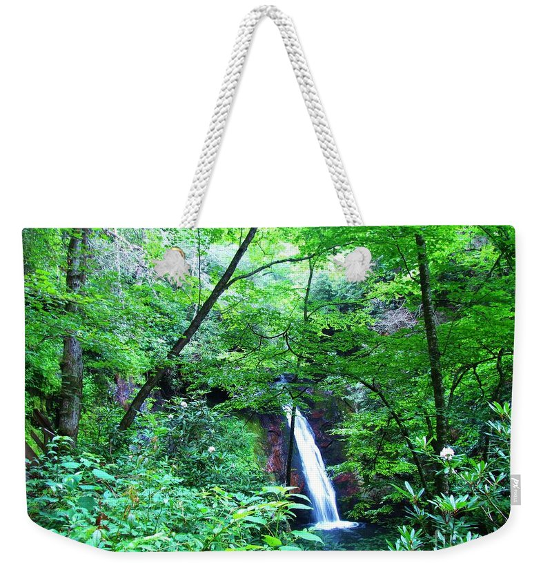 Keri West Weekender Tote Bag featuring the photograph Moon Falls by Keri West