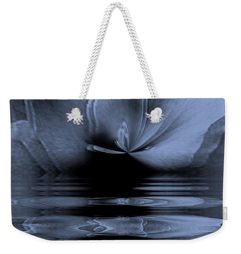Rose Weekender Tote Bag featuring the digital art Moon Glow Double Vision by Elizabeth McTaggart