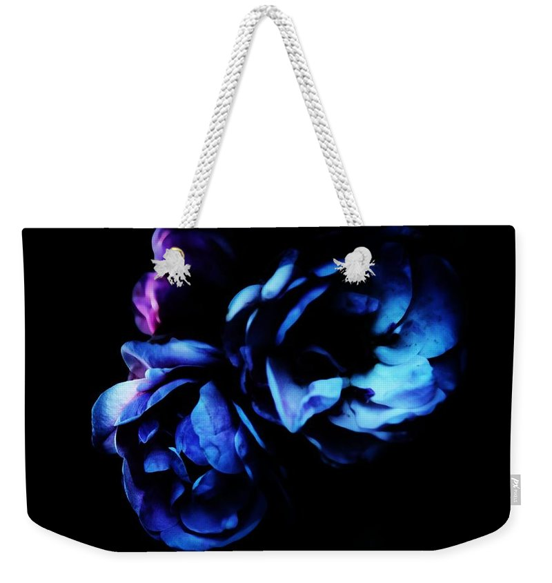 Roses Weekender Tote Bag featuring the photograph Moonlight Rose by Jessica Shelton