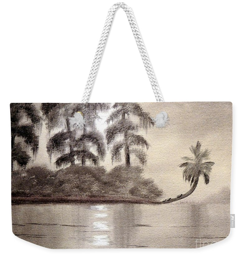 Wakulla River State Park Weekender Tote Bag featuring the painting Moonlight Wakulla Springs by Bill Holkham