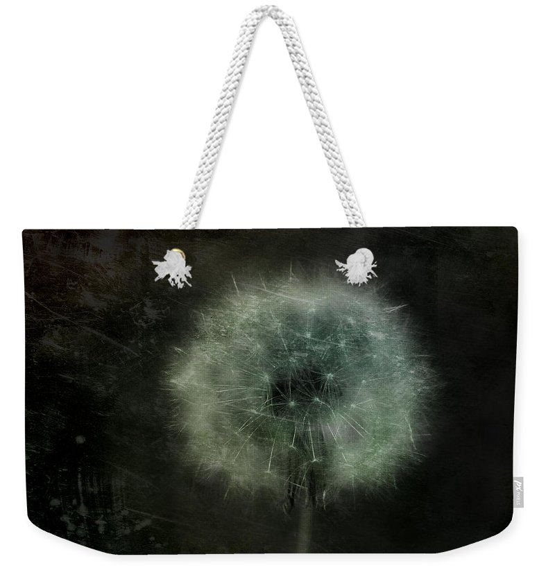 Dandelion Weekender Tote Bag featuring the photograph Moonlit Dandelion by Gothicrow Images