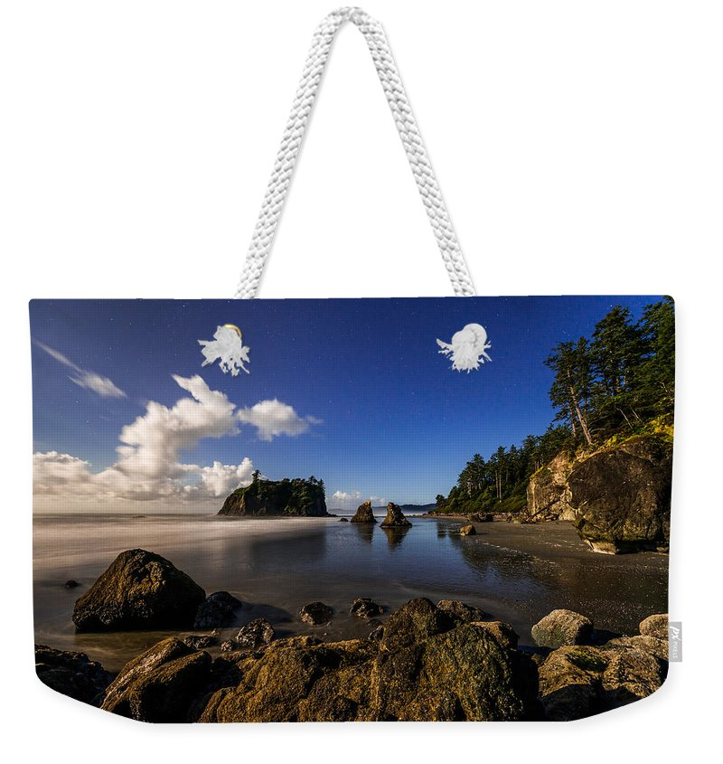 Moonlit Ruby Weekender Tote Bag featuring the photograph Moonlit Ruby by Chad Dutson