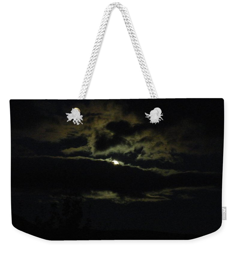 Moon Weekender Tote Bag featuring the photograph Moonrise by Brian Boyle