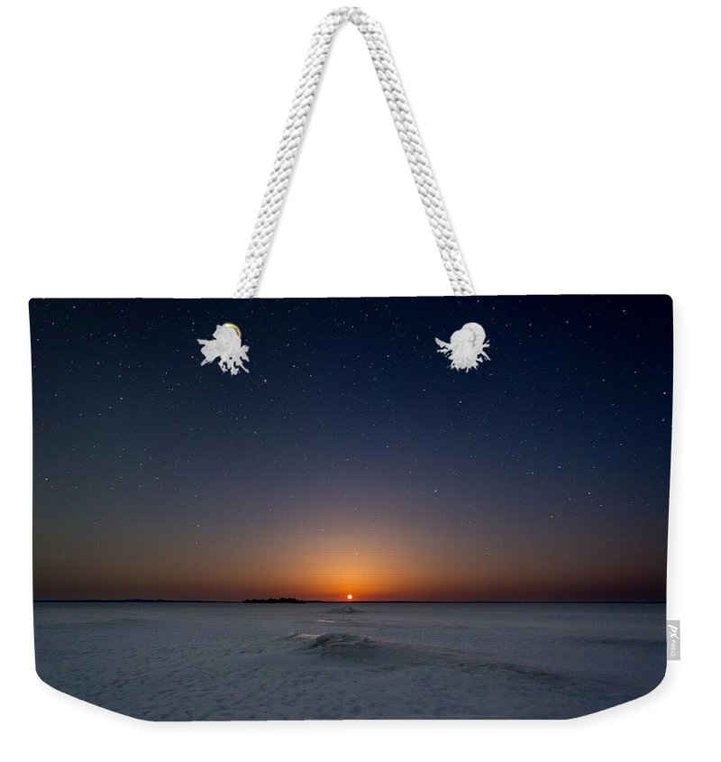 Astrophotography Weekender Tote Bag featuring the photograph Moonrise by Jakub Sisak