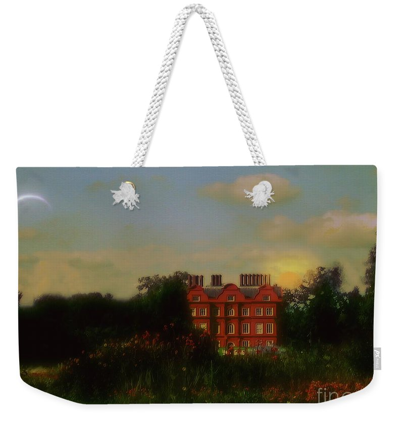 Clouds Weekender Tote Bag featuring the painting Moonrise - Sunset by RC DeWinter