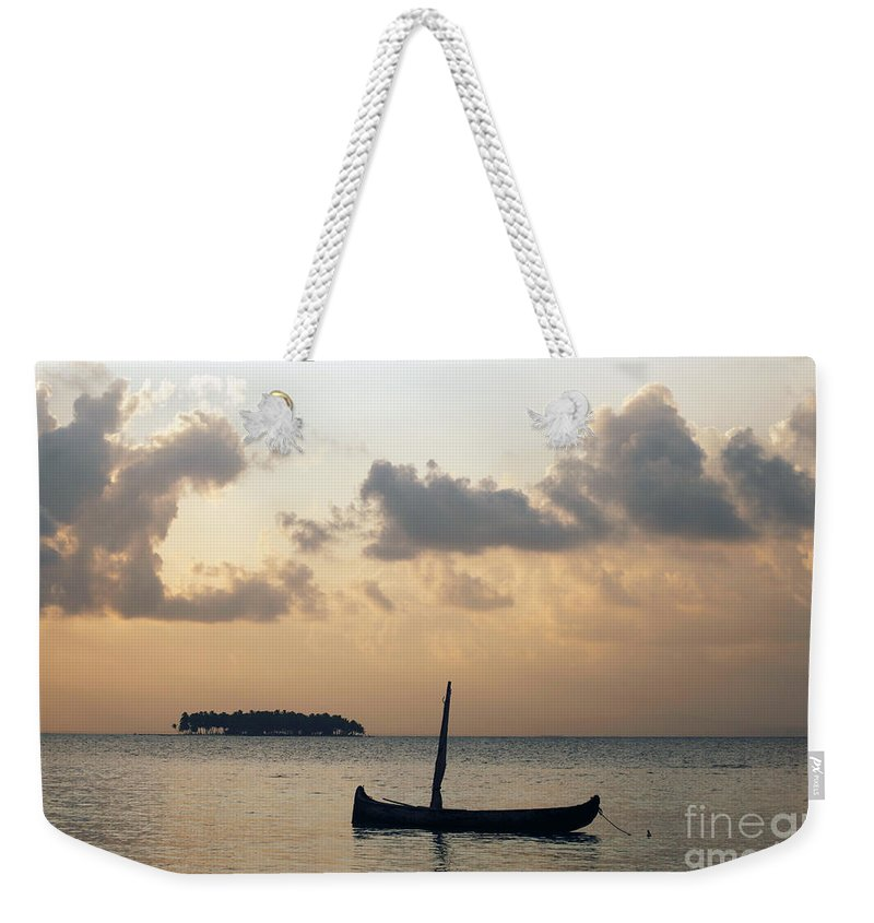 Panama Weekender Tote Bag featuring the photograph Moored For The Night by James Brunker