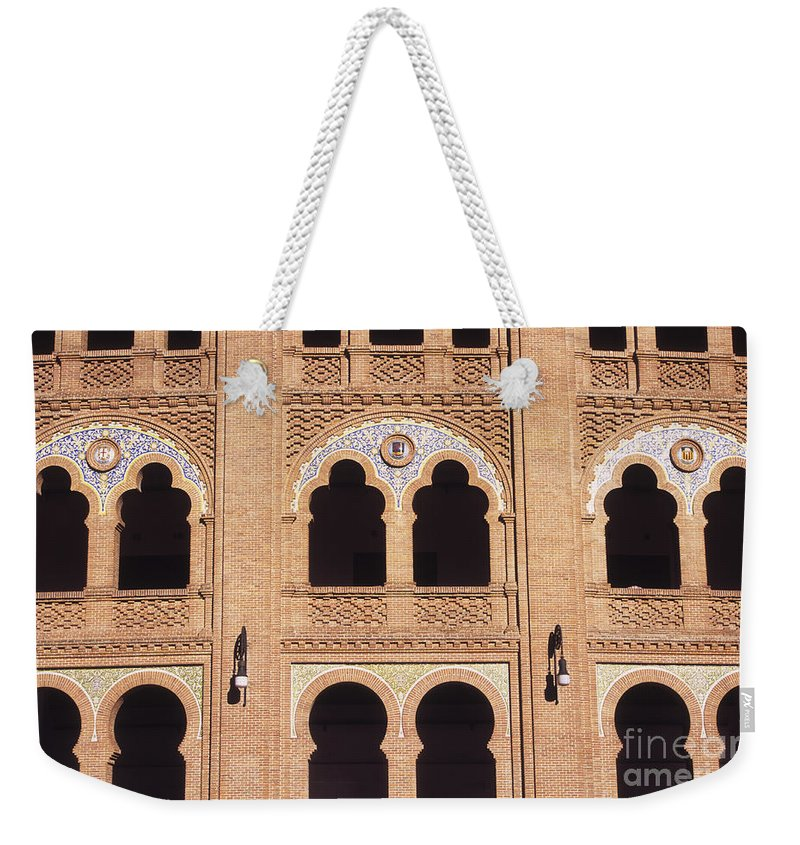 Spain Weekender Tote Bag featuring the photograph Moorish Arches Madrid by James Brunker